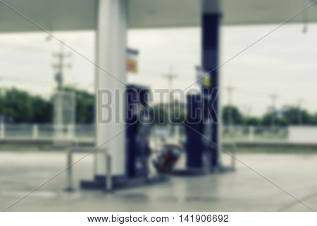 abstract blur of gas station on vintage filter - can use to display or montage on products