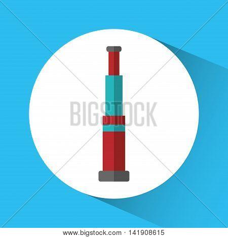 telescope nautical marine icon. Sea lifestyle. Colorfull Vector illustration