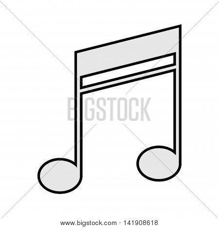 flat design quaver music note icon vector illustration