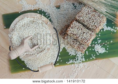 Desserts sesame and sesame seeds is delicious