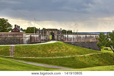 Fort Washington, a Military fort established in the 1800's to protect Washington DC situated on the Maryland coastline of the Potomac River