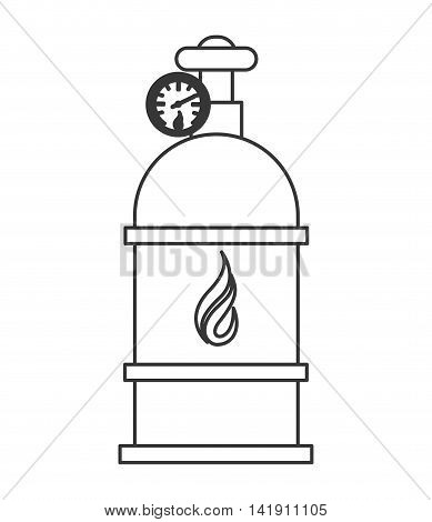 flat design natural gas tank icon vector illustration