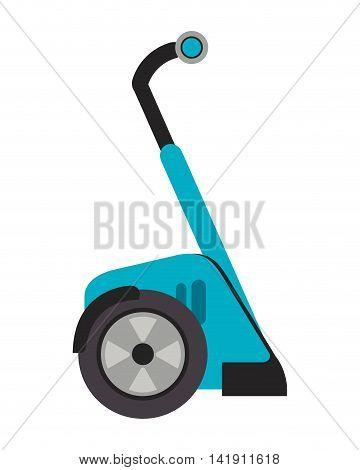 flat design segway transport icon vector illustration