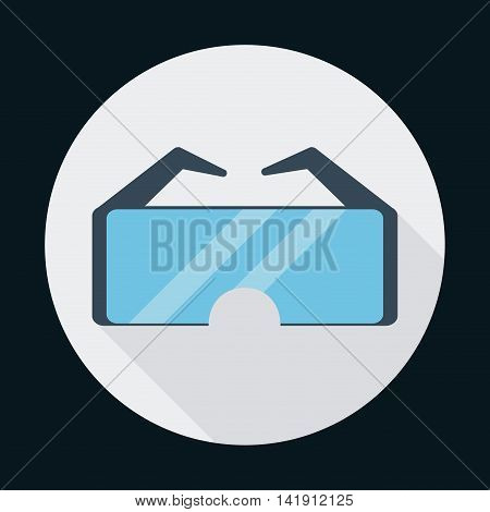 glasses industrial security safety icon. Circle design. Colorfull and flat illustration. Vector graphic