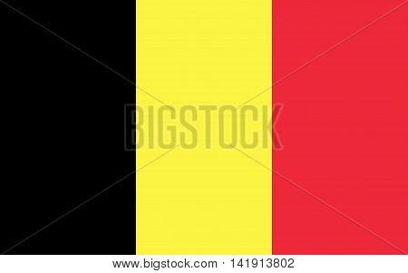 Flag of belgium. Flag of belgium vector. Flag of belgium isolated illustration