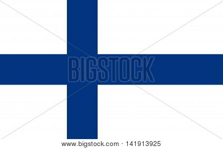 Flag of finland. Flag of finland vector. Flag of finland isolated. illustration