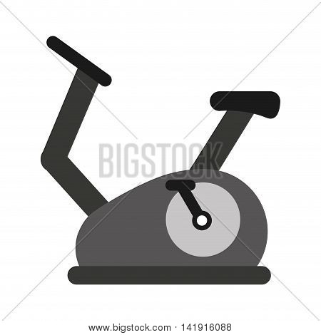 spinning fitness machine icon graphic isolated vector