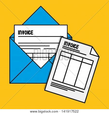envelope document paper invoice payment icon. Flat and Colorfull illustration. Vector graphic