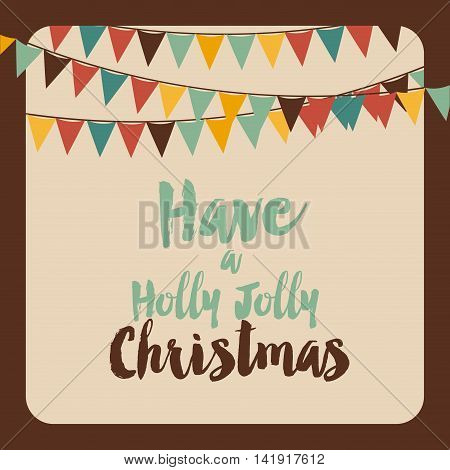 have a holly jolly christmas vector graphic illustration