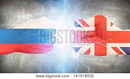 UK vs Russia  3D Render