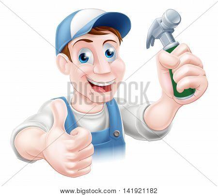 Handy Man Holding Hammer