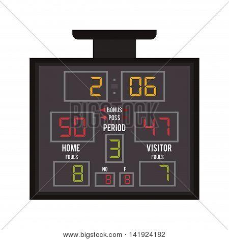 flat design basketball scoreboard icon vector illustration