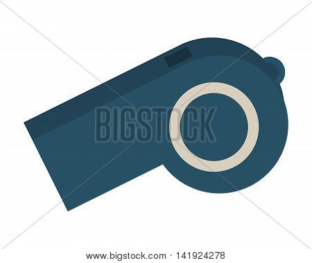 flat design single whistle icon vector illustration