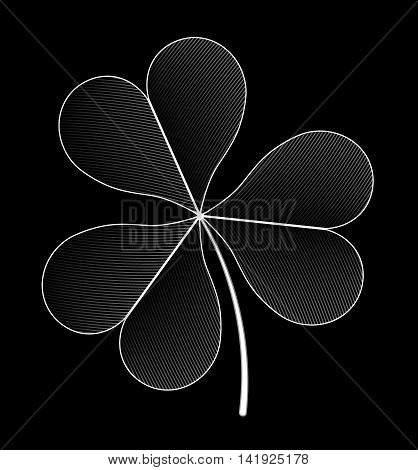 The image is three-sheeted clover.eps10 vector illustration