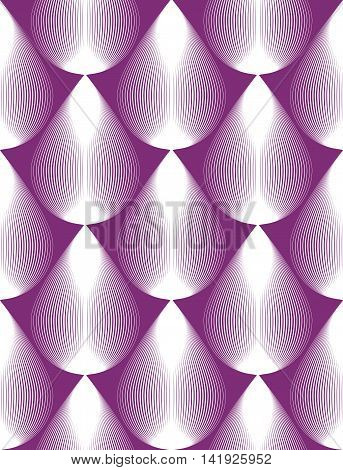 Geometric purple stripy seamless pattern bright vector abstract background.