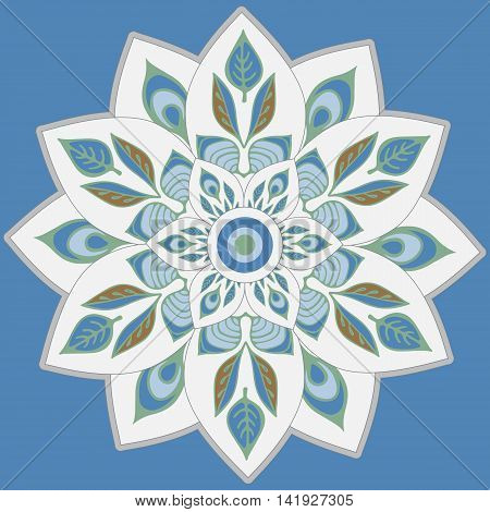 stock vector mandla pattern for printing on paper fabric. Indian arabic orient ornament