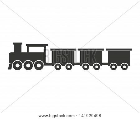 train transport public isolated icon vector illustration design