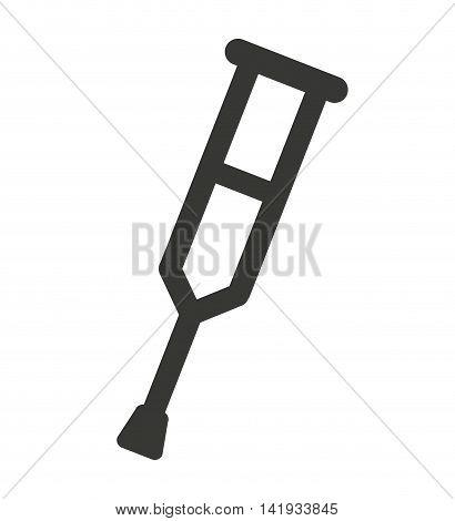 crutch equipment icon isolated vector illustration design