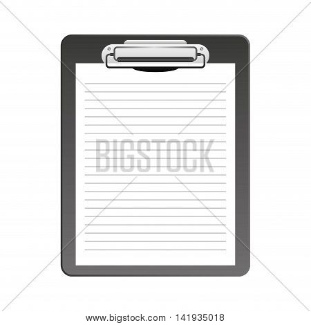 clipboard paper order icon vector illustration design