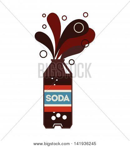 soda bottle drink icon vector illustration design