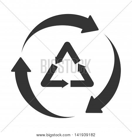 recycle reduse reuse , isolated flat icon design