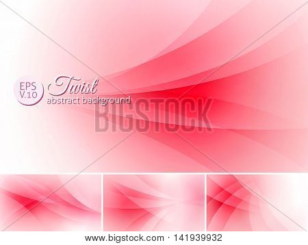 Twist abstract background. A set of vector background suitable for design element