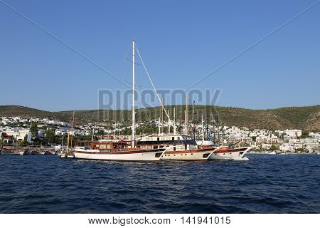 Boats In Bodrum Town