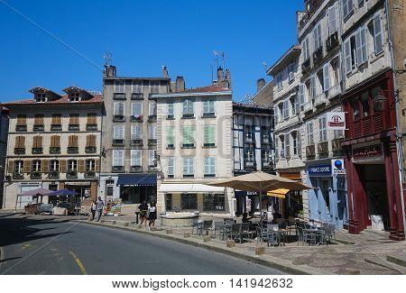 Center Of Bayonne, France