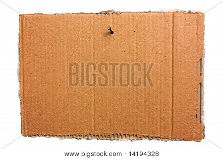 Hanging Cardboard Sheet - Clipping Path