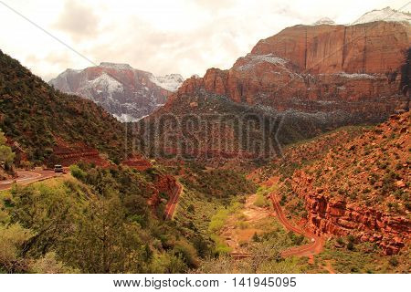 Beautiful Landscape in Zion National Park, Utah