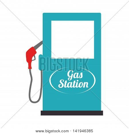 gas station industry, isolated flat icon design