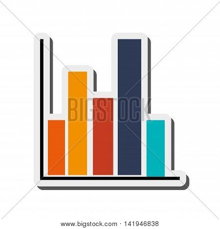 flat design graph chart icon vector illustration
