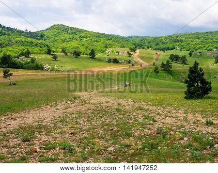 View of Ai-Petri plateau Republic of Crimea