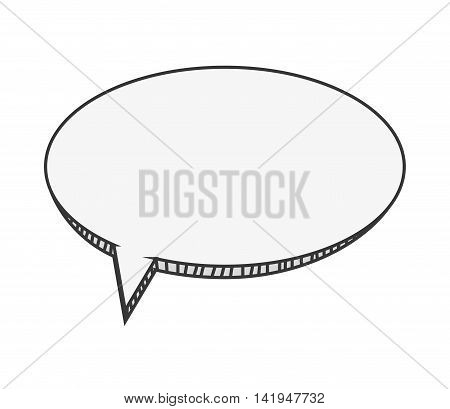 flat design cardboard conversation bubble icon vector illustration