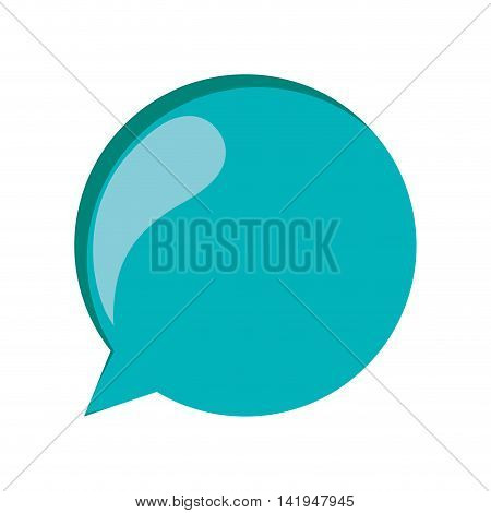 flat design colorful conversation bubble icon vector illustration