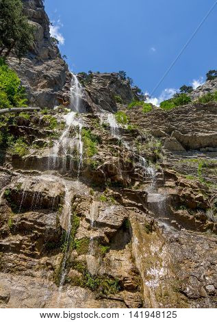 Mountain waterfall Uchan - Su Republic of Crimea