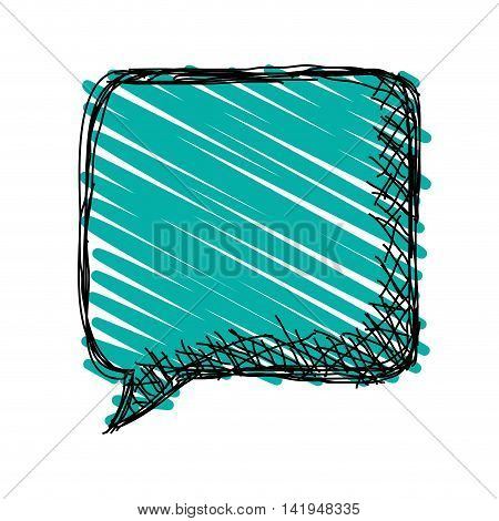 flat design sketch conversation bubble icon vector illustration
