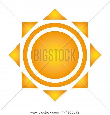 flat design geometrical sun representation icon vector illustration