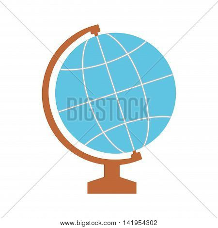 global sphere school instrument icon. Isolated and flat illustration. Vector graphic