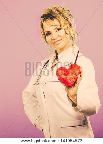 Middle Aged Blonde Doctor Enjoy Her Work.