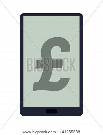 flat design sterling pound icon vector illustration