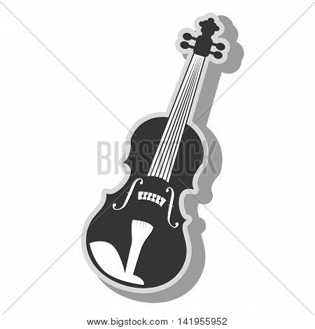 Music instrument violin isolated flat icon graphic design