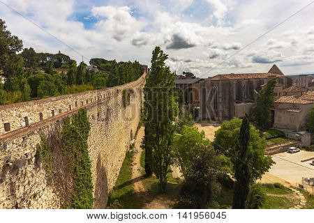 Ramparts As A Cultural Symbol Of Barcelona, Spain