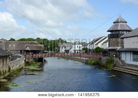 HAVERFORDWEST, UK - AUGUST 8, 2016: The market town of Haverfordwest, Pembrokeshire, Wales, UK