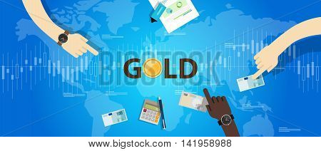old coin price market hand holding money transaction vector
