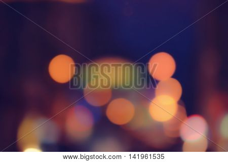 Night city street lights bokeh background, Defocused bokeh lights, Blurred bokeh, Bokeh light vintage background, Abstract colorful defocused dot, Soft focus