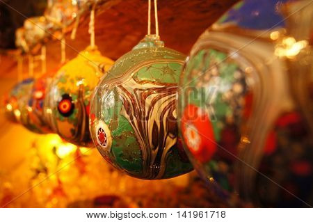 decoration ball made with Murano glass from Italy