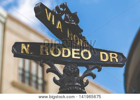 Rodeo Drive in Beverly Hills, California, USA