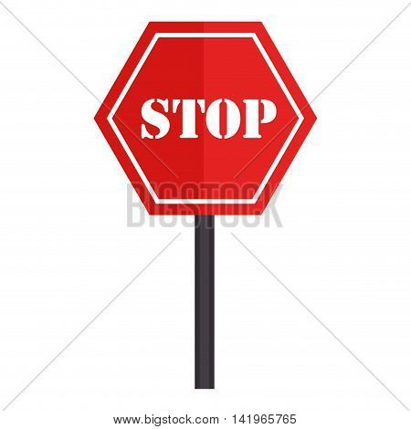 signboard transit stop sign, isolated flat icon design