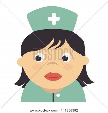 Medical healthcare isolated flat icon, vector illustration graphic design.